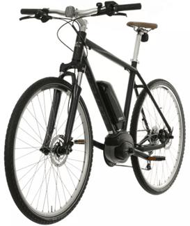 Carrera Crossfuse Mens Electric Hybrid Bike