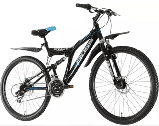 Boss Stealth 26 inch Wheel Size Mens Mountain Bike